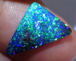 4.80 ct Top Quality Gem Dark Base Blue Green Color Queensland Boulder Opal