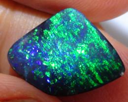 4.40 ct Top Quality Gem Dark Base Blue Green Queensland Boulder Opal *