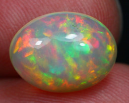 3.18Ct Rainbow Fire Cloud Pattern Ethiopian Welo Opal D1701