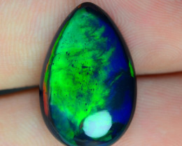 6.30 CTS RARE MULTI COLOR PLAY BLACK OPAL NATURAL GEMSTONE