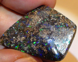 38.10 ct Big Gem Blue Green Color Queensland Boulder Opal