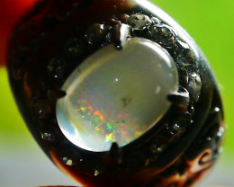 42.50 CT Beautiful Indonesian Contraluz Crystal Opal Ring Jewelry