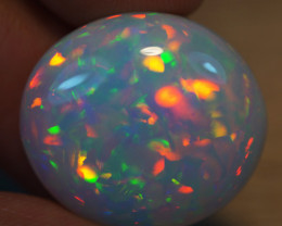 17 CT  21X19MM GREY Base!!!TOP Quality Welo Ethiopian Opal - BAA104
