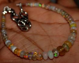 20 Crt Natural Ethiopian Welo Fire Opal Beads Bracelet 4