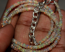 18 Crt Natural Ethiopian Welo Fire Opal Beads Necklace 154