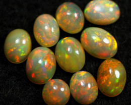 11.60cts 10 PCS Beautiful Color Play Natural Ethiopian Welo Opal