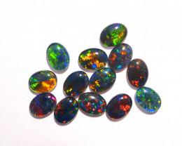 13 Bright Australian Opal Triplets 8x6mm Gem Grade Multicolour (3395)
