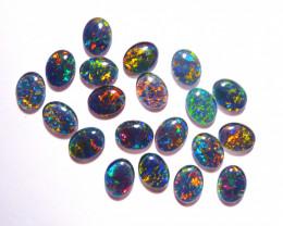 20 Beautiful Australian Opal Triplets Gem Grade 9x7mm Bright Multicolours (