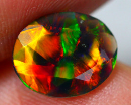 1.35ct Ethiopian Welo Faceted Cut Smoked Black Opal / 10