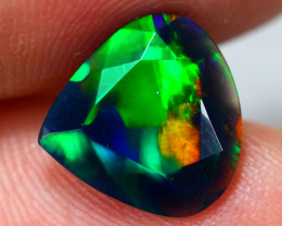 1.63ct Ethiopian Welo Faceted Cut Smoked Black Opal / 13