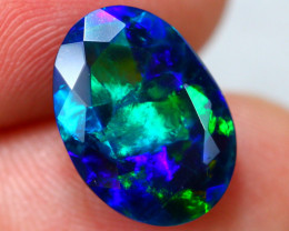 3.35ct Ethiopian Welo Faceted Cut Smoked Black Opal / 14
