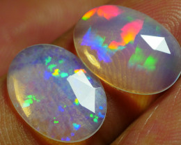 2.10 CRT 2PCS FACETED PRISM RAINBOW WELO CHAFF PLAY COLOR WELO OPAL*