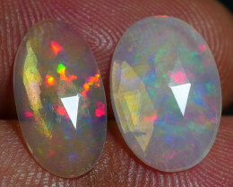 2.05 CRT 2PCS FATECED FLORAL RAINBOW PATTERN PLAY COLOR WELO OPAL*