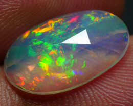 2.35 CRT BRILLIANT FACETED BROAD FLASH FLORAL PLAY COLOR WELO OPAL*
