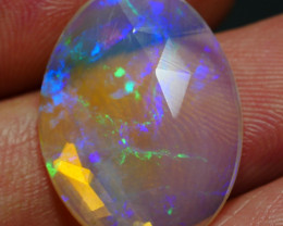 5.50 CRT CRYSTAL BEAUTY FACETED ROLLING FLASH PLAY COLOR WELO OPAL*