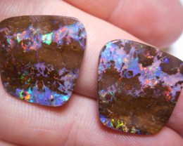 25.55ct Split Pair Boulder Opal Polished Stones