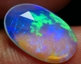 2.40 CRT BEAUTY FACETED ROLLING FLASH FLORAL PLAY COLOR WELO OPAL*