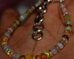 16 Crt Natural Ethiopian Welo Fire Opal Beads Bracelet 5