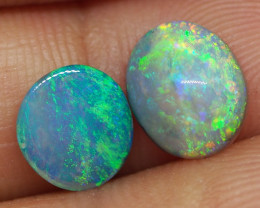 2.00CT PIPE PAIR WOOD REPLACEMENT BOULDER OPAL RE441