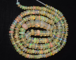 27.40 Ct Natural Ethiopian Welo Opal Beads Play Of Color