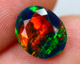 1.36ct Ethiopian Welo Faceted Cut Smoked Black Opal / 04
