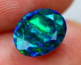1.61ct Ethiopian Welo Faceted Cut Smoked Black Opal / 05