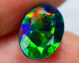 2.26ct Ethiopian Welo Faceted Cut Smoked Black Opal / 09