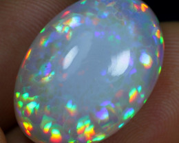 16.85cts Extraordinary Prism Pattern Natural Ethiopian Welo Opal