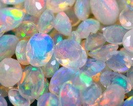 31.36Ct Natural Ethiopian Welo Faceted Opal (5x4-7x5mm) C2301