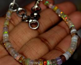 20 Crt Natural Ethiopian Welo Fire Opal Beads Bracelet 11