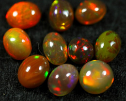 7.60cts 10 PCS Beautiful Color Play Natural Ethiopian Welo Opal