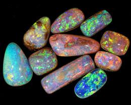 Small 10pcs 5.8ct Crystal Pipe Boulder Opal Parcel [LOB-2465]