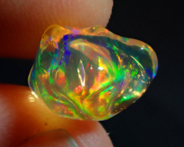 3.97CT  EXTREMELY BRIGHT CARVED SUPREME  WATER MEXICAN OPAL
