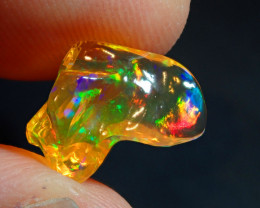 2.79CT  EXTREMELY BRIGHT CARVED FIERY  MEXICAN OPAL
