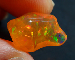 6.68CT  EXTREMELY BRIGHT CARVED  SUPREME MEXICAN  FIRE  OPAL