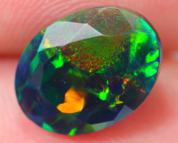 2.11ct Ethiopian Welo Faceted Cut Smoked Black Opal / DE362