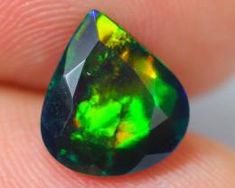 1.92ct Ethiopian Welo Faceted Cut Smoked Black Opal / DE365