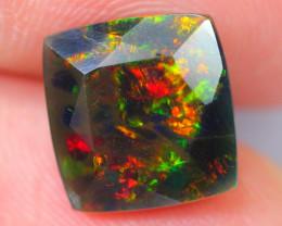 2.56ct Ethiopian Welo Faceted Cut Smoked Black Opal / DE369