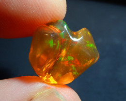 8.18ct Mexican  Fire Opal Bright Carved
