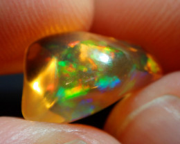 5.12ct Mexican  Fire  Opal Mango  Bright Carved