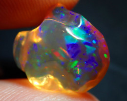 5.93ct Mexican  Fire  Opal Gold  Bright Carved