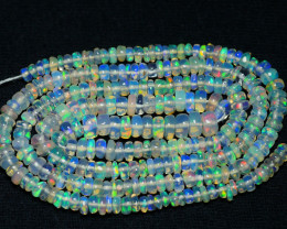 24.90 CRT BEAUTY OPAL BEADS STRANDS MULTI PLAY COLOR WELO OPAL-