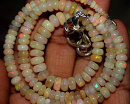 73 Crt Natural Ethiopian Welo Fire Opal Beads Necklace 165