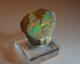 82ct Beautiful  Cutting Rough Ethiopian Solid Welo Opal