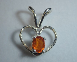 Mexican Fire Opal  Opal Pendant