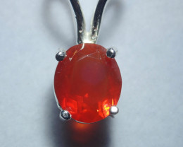10.12ct Mexican Fire Opal  Opal Pendant