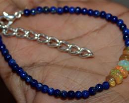 22 Crt Natural Ethiopian Welo Fire Opal & Lapis Lazuli Beads 202