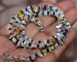 25 Crt Natural Ethiopian Welo Fire Uncut Opal & Lapis Lazuli Beads