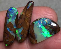 30.5cts 3 piece Boulder Opal Stone Parcel  AE55