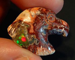 Eagle head Matrix  Opal Carved Figurine